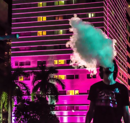 Neon Vapes Long Exposure Photography Miami Vape Showcase March