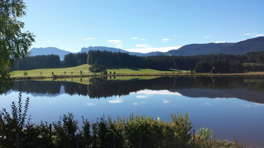 Attlesee Hanging Out Hello World Bavaria Allgaeu Relaxing Hiking EyeEmBestPics Clouds And Sky Water Reflections