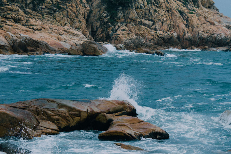 Water Rock Sea Solid Rock - Object Motion Beauty In Nature Rock Formation Nature Land Day Scenics - Nature No People Sport Beach Wave Splashing Outdoors Marine Rocky Coastline Power In Nature Flowing Water