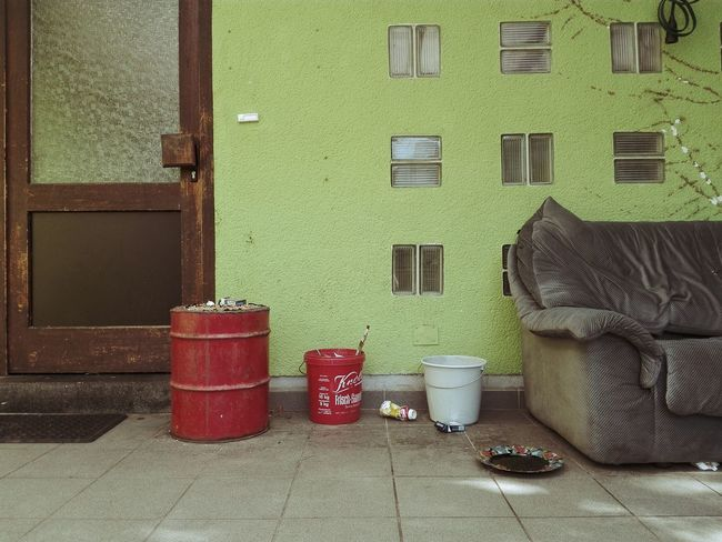 Villagelife Couch Window Building Exterior Architecture Group Of Objects Outdoors No People Couchlife Mess Deserted Day