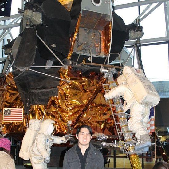 A giant leap for mankind -Buzz Aldrin Moonlander Reasontoventure Newfrontier Spacetravel toboldlygo intotheunknown Smithsonian Washington DC museum zeroG