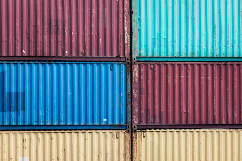 Rhein Architecture Backgrounds Blue Business Cargo Container Commercial Dock Container Corrugated Day Distribution Warehouse Freight Transportation Full Frame Industry Iron Iron - Metal Metal No People Outdoors Pattern Pier River Shipping  Transportation Warehouse