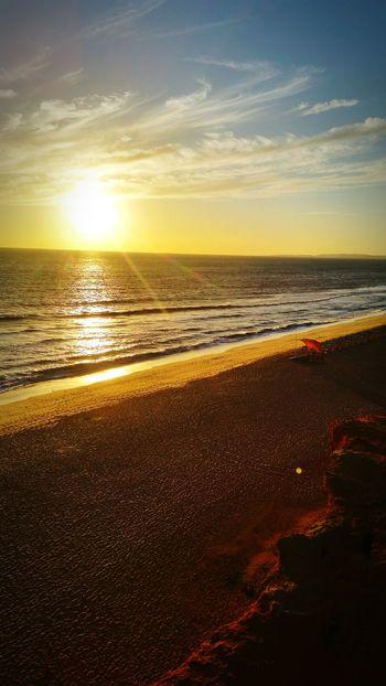 Sunset on Vale Do Lobo Beach Bluesky Sky Portugal