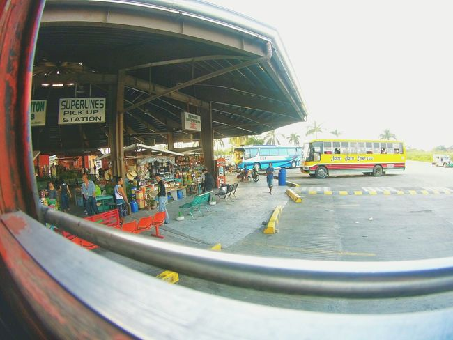 Bus station Transportation Transport Bus Stop Bus Station Bus Philippines People Day Real People Lifestyles Built Structure Outdoors