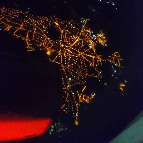 look down Ontheairplane Comeback Lightofthecity Comebackhome Night