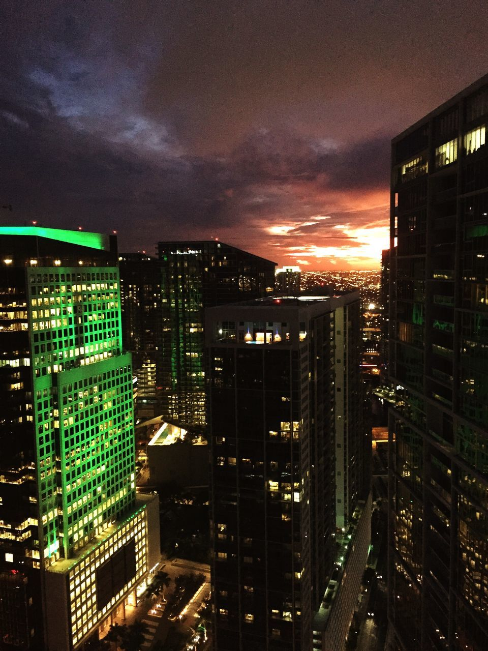 architecture, illuminated, cityscape, building exterior, city, no people, night, modern, skyscraper, built structure, sky, growth, outdoors