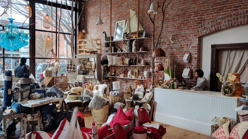 Retail  Indoors  People Architecture Port Townsend Home Decor Home Design Decor Day Architecture Brick Wall Bricks Red Blue Maritime