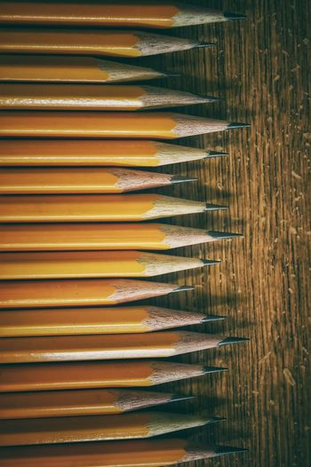 Pencils Writing Yellow Group Of Objects Points Sharp In A Row Pencil Lead The Color Of School
