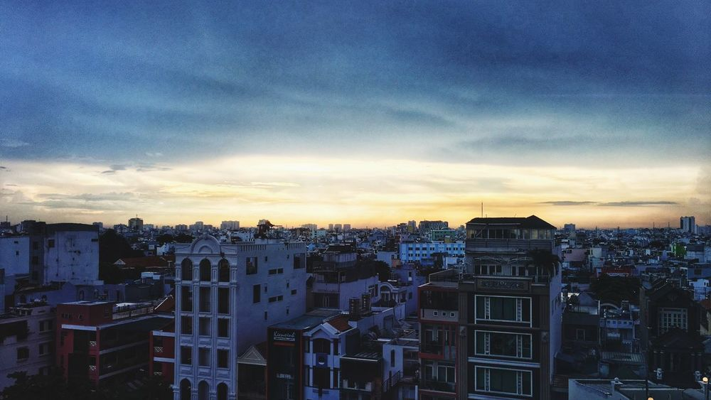 Sunset Sunset Built Structure Architecture Building Exterior No People City High Angle View Dusk