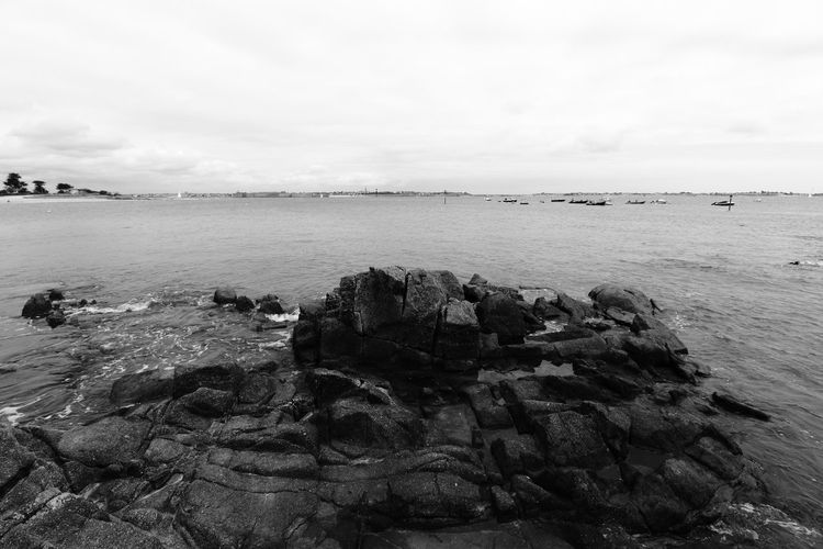 Larmor Plage Morbihan 56 Bretagne France Tranquility Brittany In Black And White Monochrome_Photography