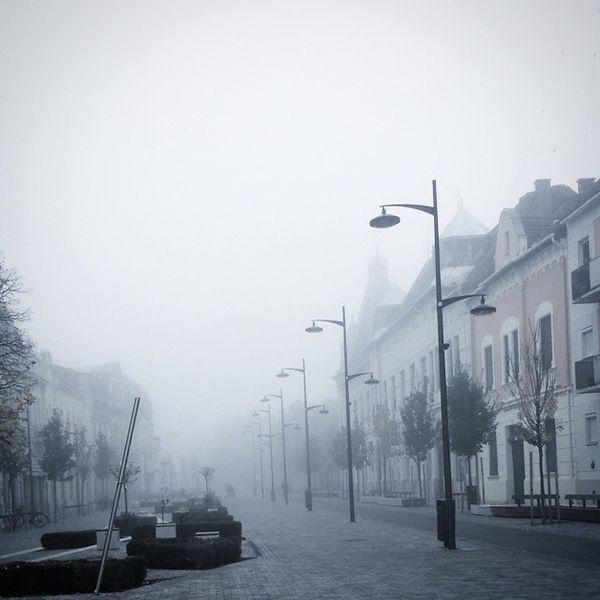 Hodmezovasarhely Cloud Sky City Street Fog World Iloveworld Instalike Hungary Deadcity Be A B C