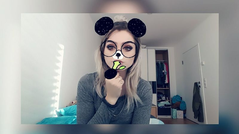 One Woman Only Young Women One Person Taking Photos Girl Blonde Make-up Nothing To Do At Home :) My Tattoo Try To Be Cute Mac Cosmetics Snapchat™ Streched Ears Looking At Camera 😄☺😉😏📷 Blond Hair Finger Tattoo Sunday Snowapp Pandaface Messyhair Panda MyRoom(: