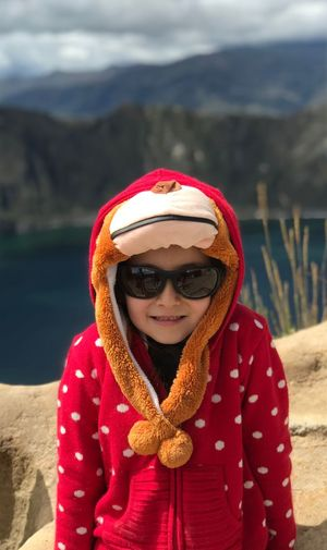 Smile Sunglasses Lake Bokeh Bonnet Portrait Little Girl Kid Winter One Person Warm Clothing Clothing Cold Temperature Front View Real People Portrait Focus On Foreground Hat Leisure Activity Scarf Looking At Camera Snow Lifestyles Women Day Outdoors
