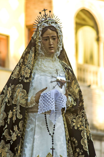 Day Easter Week One Person Outdoors People Period Costume SPAIN Spaın Statue Talavera De La Reina Toledo Spain Virgin  Virgin Mary Virgin Mary Art Virgin Mary Statue Religious Icon
