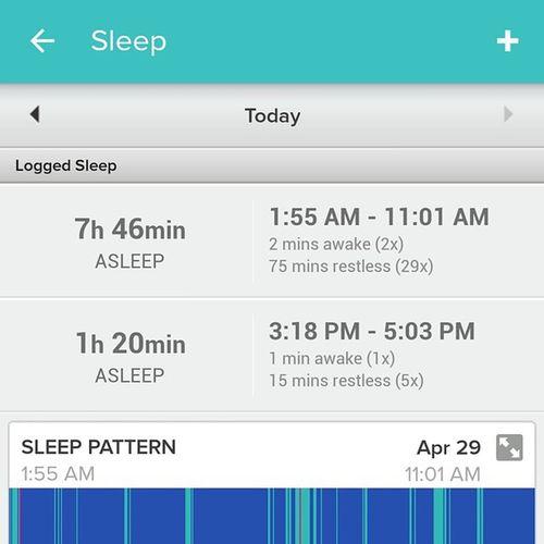 トラッカーを Fitbit Chargehr に替えたら昼寝も自動記録出来るようになってた\(>_<)/
