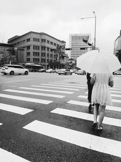 Crosswalk Umbrella Lace Dress Girl Rainy Day Girl With Umbrella EyeEm Selects
