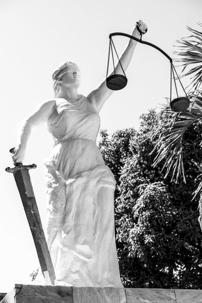 She's not Princess Diana. But she's just as fierce. Blackandwhite Blindfold Eyeem Philippines Justice Justiceleague Lady Justice LadyJustice Law Scales Of Justice Spear Statue Be. Ready. Black And White Friday #FREIHEITBERLIN