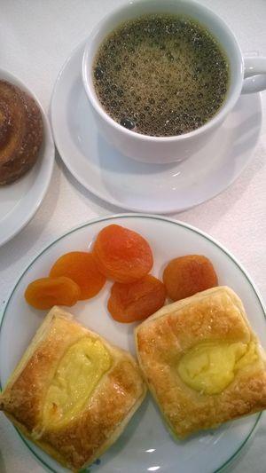 BreakfastTime  Danish Pastry Mediterranean Coffee Sweet Treats  Hotel Breakfast Visual Feast