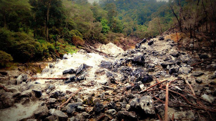 Volcano Eruption Kawahratu Kawahmati Sulfur Gas Brimstone Landscapes With WhiteWall