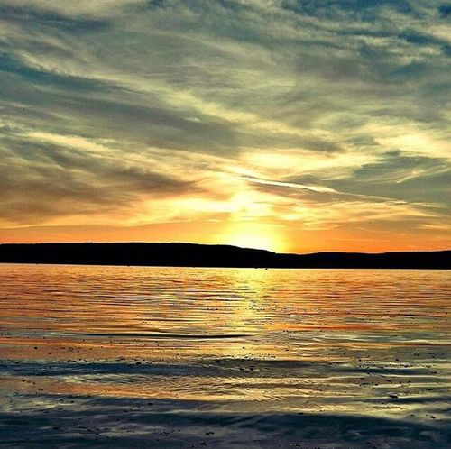 Sunset Beauty In Nature Scenics Nature Sea Tranquil Scene Tranquility Sky Cloud - Sky Water No People Outdoors Silhouette Travel Destinations Day