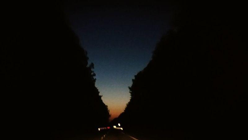 The night is always datkest before dawn. Beautuful Virginia skylin e just before sunrise.