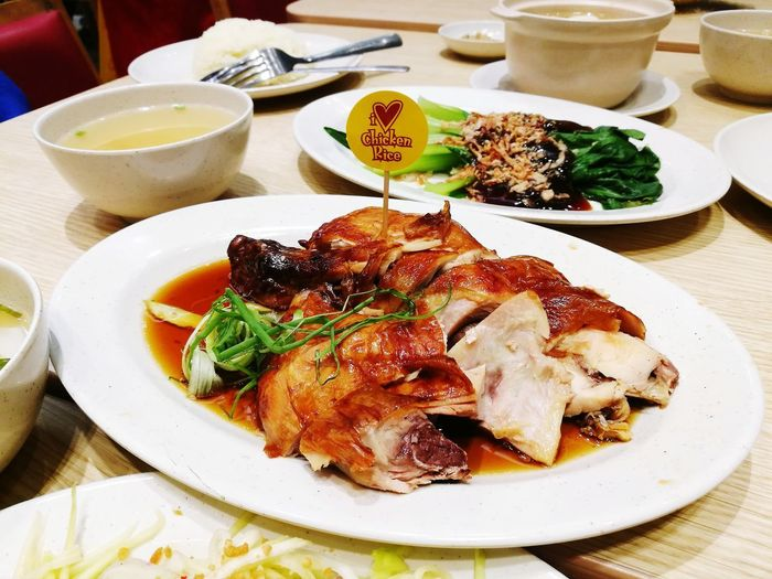 i love chiken rice Plate Food And Drink Food Serving Size Ready-to-eat Table Freshness Temptation Food Styling Serving Dish EyeEmNewHere