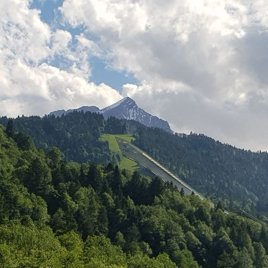 Alpspitze Olympiaschanze Germany Alpspitze Olympiaschanze Garmisch Mountain No People Cloud - Sky Nature Forest Tree Beauty In Nature Mountain Range Sky