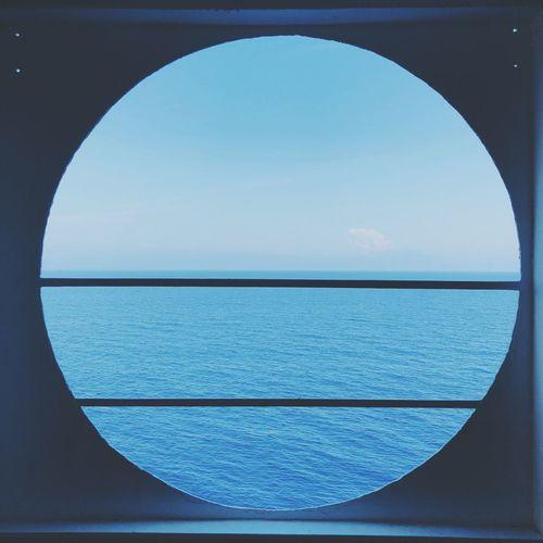 Sky Blue Sea Water Circle No People Geometric Shape Nature Outdoors