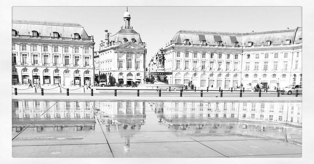Miroir d'eau Blackandwhite Bordeaux Photo Photooftheday France Photography Photographer Black & White Iphonephotography Miroir D'eau - Bordeaux Streetphotography Bordeaux, France