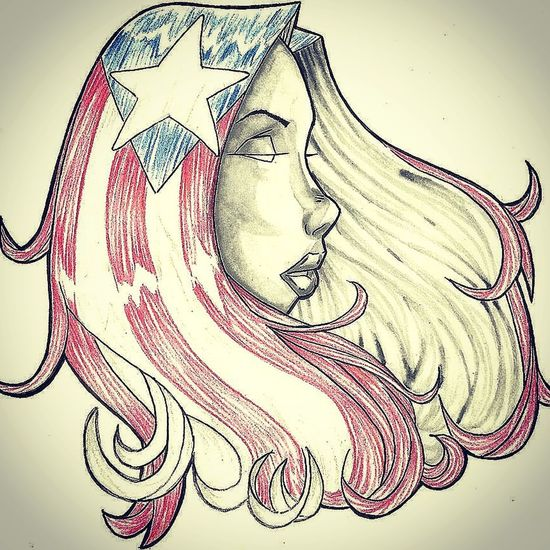 Drawing Illustrator Puertorican Hello World