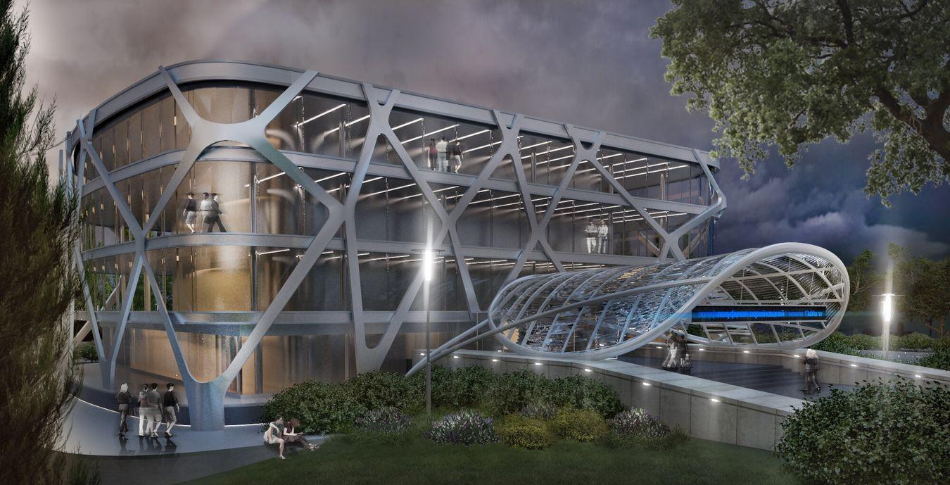 дизайн 3d Landscapes Buildings Urban Landscape