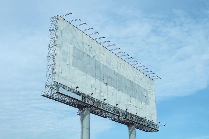 Billboard Billbord Blank Billbord For Advertising Billbord Panel Billbord Structure No People Outdoors Sky