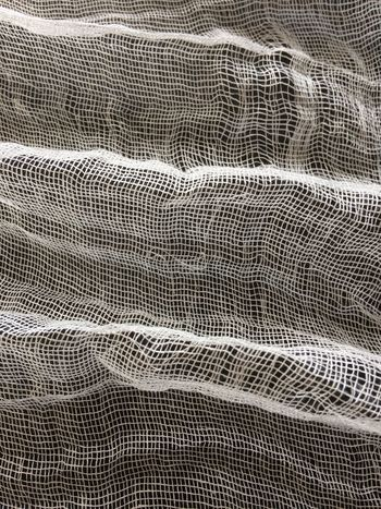 Gauze fabric pattern closeup. Abstract Backgrounds Close-up Fabric Full Frame Gauze Material No People Pattern Rough Textile Textured  Wave
