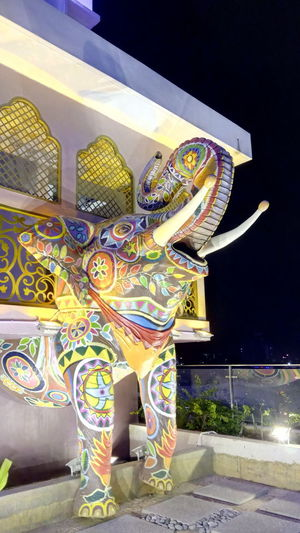 Indian Chariot Indian Parade Indian Design Indian Elephant Mural Painting Night Scene Selangor Animal Architecture Chariot Colorful Creative Architecture Ethnic Architecture I-City Shah Alam Indian Decoration Indian Elephant Tusks HUAWEI Photo Award: After Dark EyeEmNewHere #urbanana: The Urban Playground