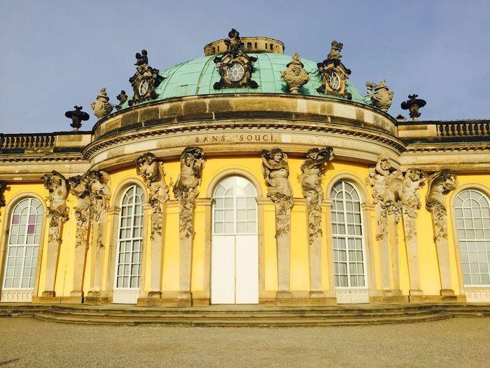 Sans Souci Castle Castle Architecture Architectural Detail Beautiful Building Potsdam Angel View