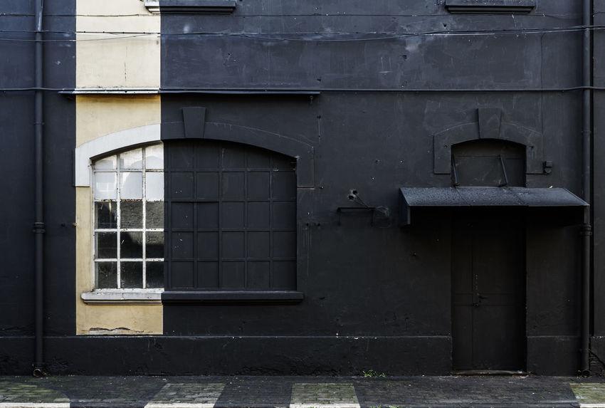 Black Building Exterior Built Structure Day Door Exterior No People Outdoors Painted Black Window