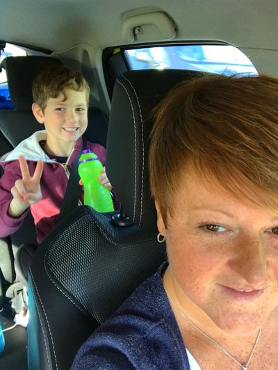 Travelling Photography Car Journey With My Boy Family Matters Off To Collect His Gran Me And My Son Lets Go. Together. Peace Drinks Bottle