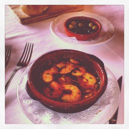 Shrimp Gambas Pilpil Pil_pil at grill del puerto puerto_banus marbella spain