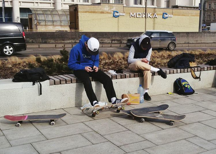 Mobile Conversations Streetphotography Scateboarding Boys Spring Street Street Photography