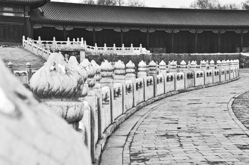 View of sculptures in forbidden city