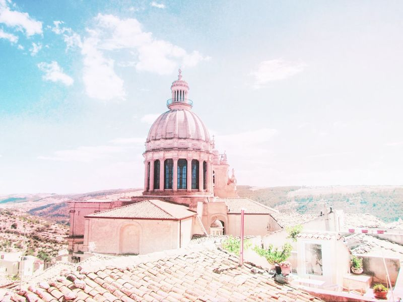 A special view from Italy. Italy Italia IT Sunny Sunny Day Sunny Side Up Travel Travel Destinations Travel Photography Sky Sun Summer Architecture Built Structure Dome Sky Architecture Building Exterior Cloud - Sky Cupola State Capitol Building Skylight Spiral Staircase