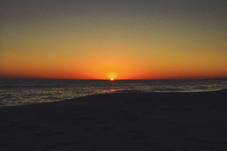 Sea Sunset Beach Scenics Tranquility Tranquil Scene Horizon Over Water Orange Color
