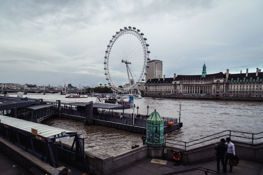 A view from the Westminster bridge, London... Big Wheel Boat Boats City City Life Cityscape Cityscapes Clouds Cloudy Day Cloudy Days Dull Day Grey Skies Grey Sky London London Eye London Tourisum LondonEye River River Thames Thames Tourism Tourist Attraction  Tourist Destination Westminster Westminster Bridge