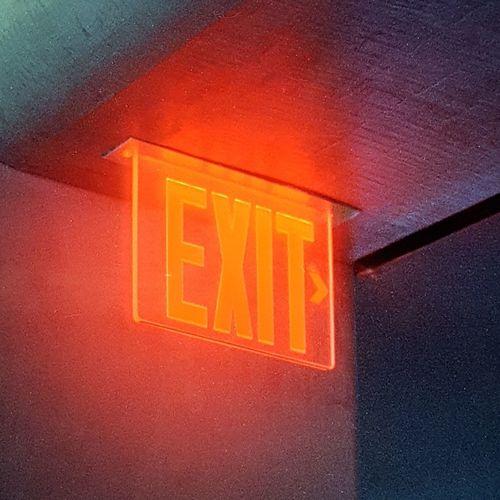 Exit, followed
