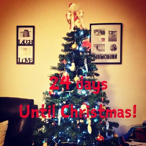 Christmas tree is up .... Let the count down begin SantaClausIsComing Decorations