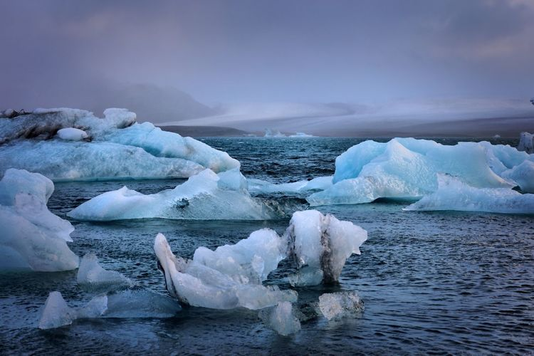 Iceland - icebergs Ice Cold Temperature Frozen Nature Iceberg Iceberg - Ice Formation Winter Beauty In Nature Glacier Sea Melting Sky No People Tranquility Polar Climate Floating On Water Scenics Outdoors Water Day