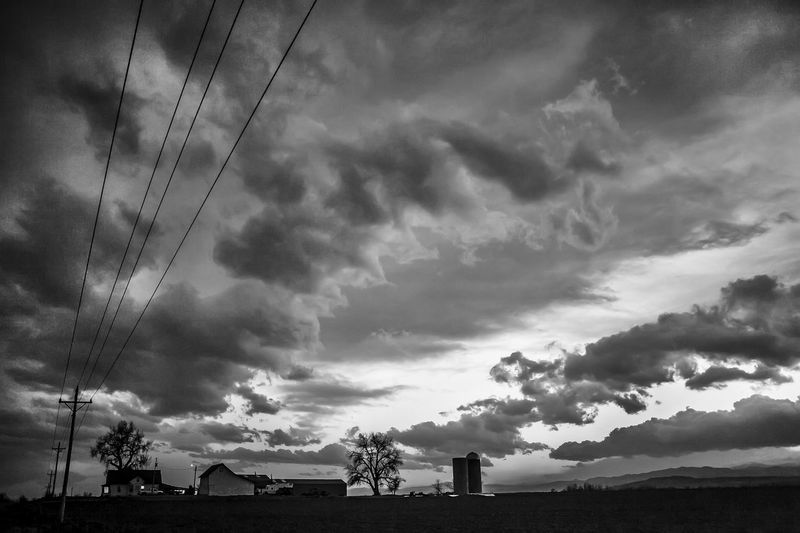 Big Sky Big Sky Skies Big Cloud Clouds Nimbus Barren Beauty Bw_collection Cable Cloud - Sky Clouds And Sky Cloudscape Cloudscape Cloudsporn Farm Life Farm Life Usa Collection Power Line  The Great Outdoors - 2016 EyeEm Awards The Great Outdoors With Adobe The OO Mission Fine Art Photography
