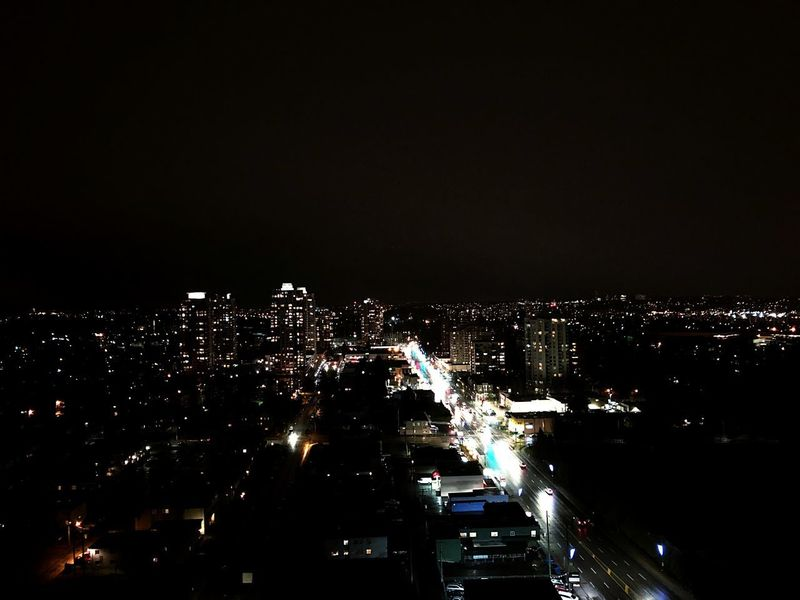 Nightview Up In The Air Highrise Urbancity Daily Life Vancouver BC Night Illuminated City Cityscape Urban Holiday Architecture Modern Residential  Outdoors
