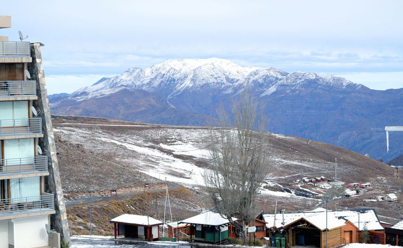 Andes La Parva Landscape Mountains Scenic Ski Resort  Snow Top Of The Mountains