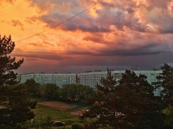 #cloudporn #cloud #clouds  #clouds  Sky Cloud - Sky Sunset Plant Tree Architecture Built Structure Nature